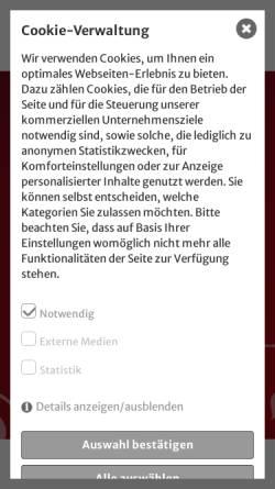 Vorschau der mobilen Webseite www.tanzschule-woelbing.de, Tanzschule Wölbing