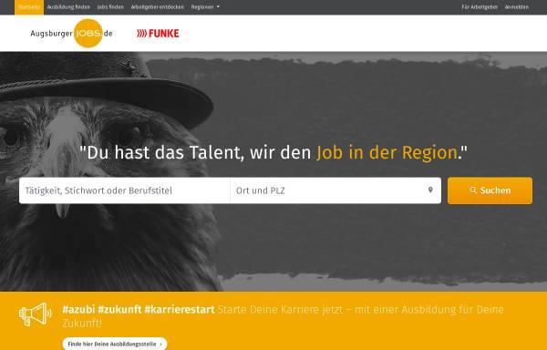 Vorschau von augsburgerjobs.de, Augsburger Jobs