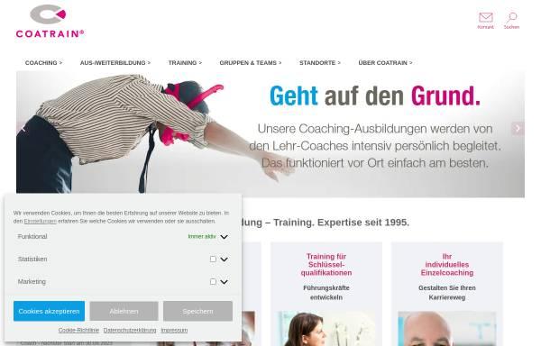 Vorschau von www.coatrain.de, Coatrain Coaching und Personal Training GmbH