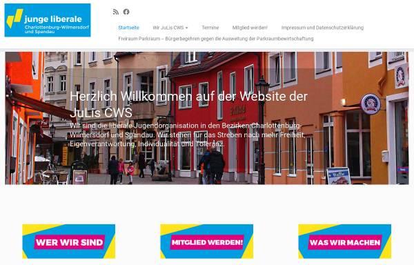 Vorschau von www.julis-cws.de, JuLis - Junge Liberale Charlottenburg-Wilmersdorf und Spandau