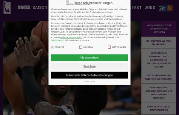 Vorschau von www.bggoettingen.de, Basketball-Göttingen