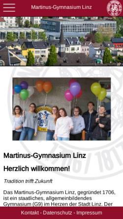 Vorschau der mobilen Webseite www.martinus-gymnasium.de, Martinus-Gymnasium