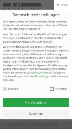 Vorschau der mobilen Webseite www.galerie-robert-drees.de, Galerie Robert Drees