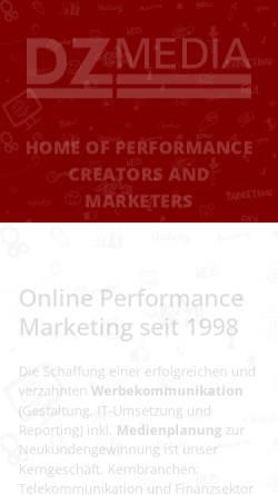 Vorschau der mobilen Webseite www.dz-media.de, DZ-Media Verlag GmbH