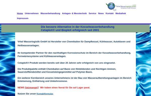 Vorschau von www.cetaplex.de, Vrhel Wasserlogistik GmbH