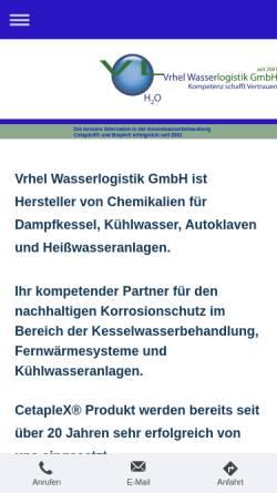 Vorschau der mobilen Webseite www.cetaplex.de, Vrhel Wasserlogistik GmbH