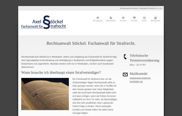Vorschau von www.anwalt-strafrecht-wiesbaden.de, Rechtsanwalt Axel Stöckel, Fachanwalt für Strafrecht