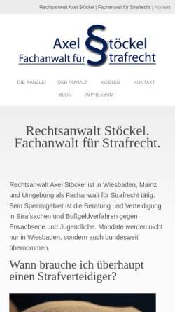 Vorschau der mobilen Webseite www.anwalt-strafrecht-wiesbaden.de, Rechtsanwalt Axel Stöckel, Fachanwalt für Strafrecht