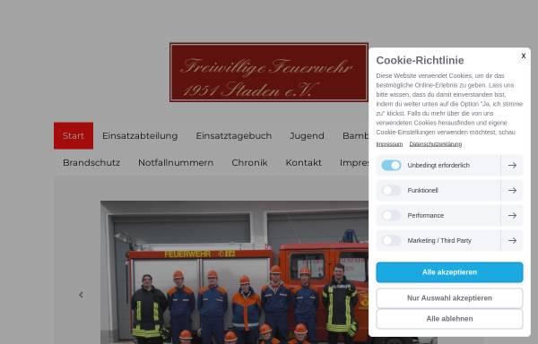 Vorschau von www.feuerwehr-staden.de, Freiwillige Feuerwehr 1951 Staden e.V.