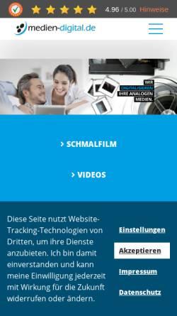 Vorschau der mobilen Webseite www.medien-digital.de, MedienDigitalisierung Zoller