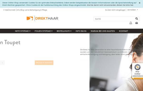 Vorschau von direkthaar.de, DirektHaar - Der Toupet & Haarersatz Blog