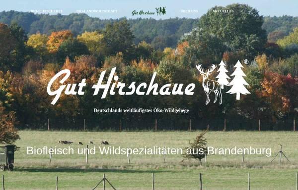 Vorschau von www.gut-hirschaue.de, Gut Hirschaue GmbH & Co. KG