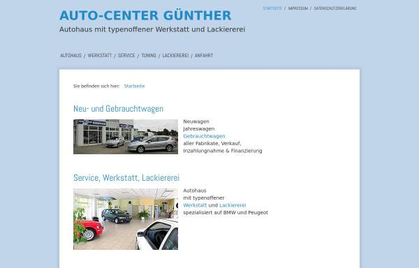 Vorschau von www.auto-center-guenther.de, Auto Center Günther, Inhaberin Teja Günther