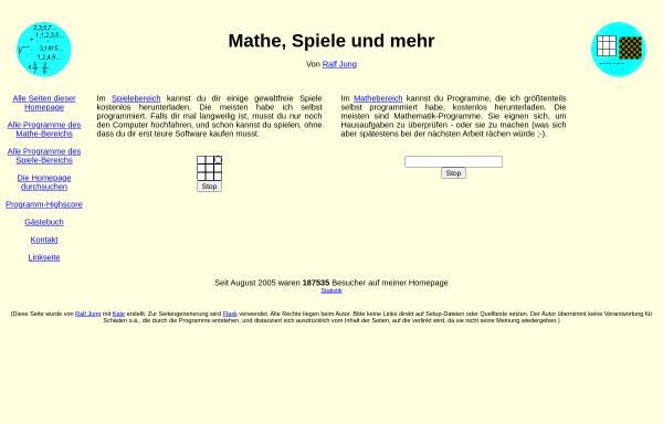 Vorschau von mathespiele.ralfj.de, Schiffe versenken
