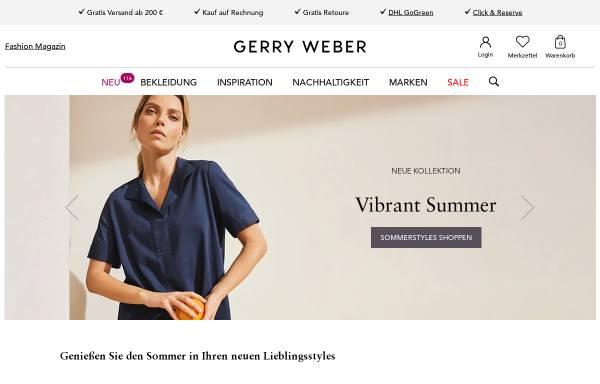 Vorschau von www.house-of-gerryweber.de, Gerry Weber Retail GmbH