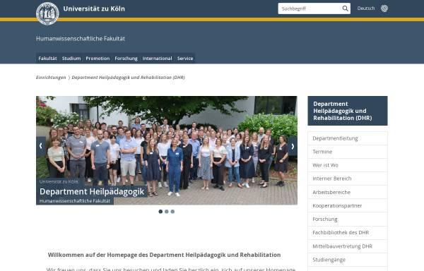 Vorschau von www.hf.uni-koeln.de, Heilpädagogik, Uni Köln