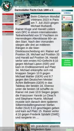 Vorschau der mobilen Webseite dfc1890.de, Darmstädter Fecht-Club 1890 e.V.