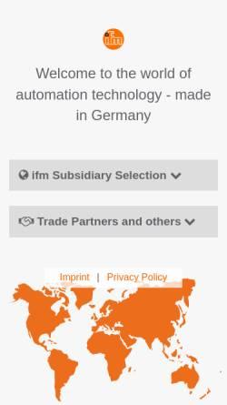 Vorschau der mobilen Webseite www.ifm.com, IFM Electronic GmbH