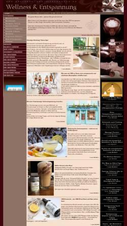 Vorschau der mobilen Webseite www.wellness-und-entspannung.de, Magazin für Wellness und Entspannung