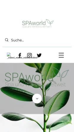 Vorschau der mobilen Webseite www.spaworld.de, Spaworld.de