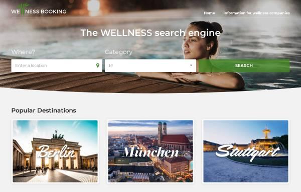 Vorschau von www.wellnessbooking.com, WellnessBooking.com