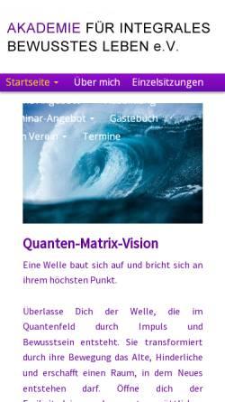 Vorschau der mobilen Webseite www.baerbel-gehrling-quantensprung.de, Bärbel-Elisabeth Gehrling