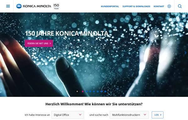 Vorschau von www.konicaminolta.de, Konica Minolta Business Solutions Deutschland GmbH