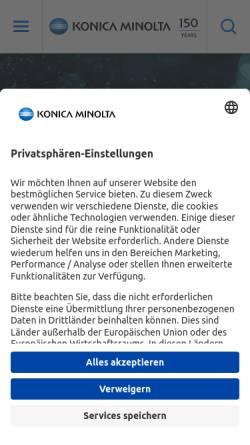 Vorschau der mobilen Webseite www.konicaminolta.de, Konica Minolta Business Solutions Deutschland GmbH