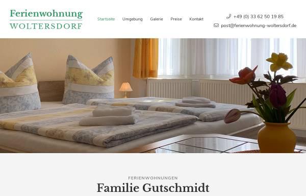 Vorschau von www.ferienwohnung-woltersdorf.de, Ferienwohnungen Familie Gutschmidt