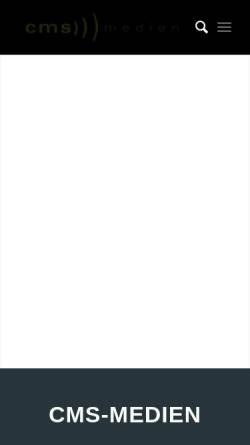 Vorschau der mobilen Webseite www.cms-medien.de, CMS-Medien