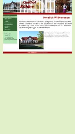 Vorschau der mobilen Webseite www.gasthof-koehler.de, Gasthof Köhler