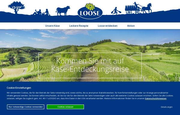 Vorschau von www.loose.de, Käserei Loose GmbH & Co. KG