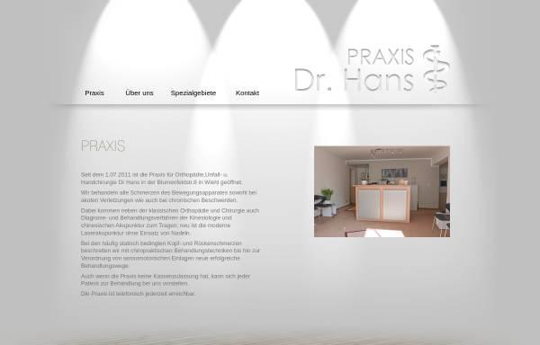 Vorschau von www.orthopaedie-hans.de, Hans, Dr. med. Axel
