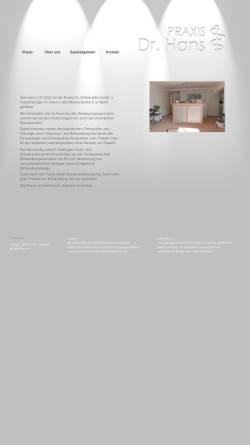 Vorschau der mobilen Webseite www.orthopaedie-hans.de, Hans, Dr. med. Axel