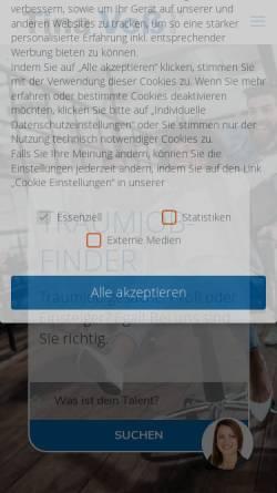Vorschau der mobilen Webseite www.tina-voss.de, Tina Voß GmbH