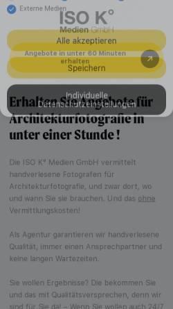 Vorschau der mobilen Webseite www.iso-k.de, ISO K° photography