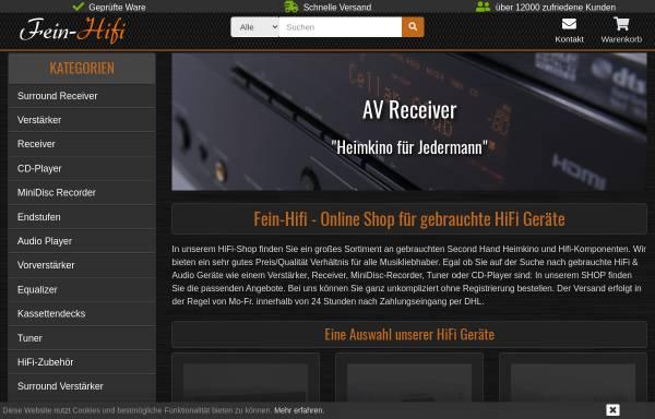 Vorschau von www.fein-hifi.de, Fein-Hifi Shop - gebrauchte Hifi und Heimkino Komponenten