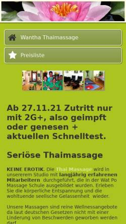 Vorschau der mobilen Webseite www.wantha-thaimassage-berlin.de, Wantha Thai Massage