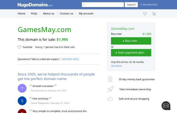 Vorschau von www.gamesmay.com, Free Flash Games
