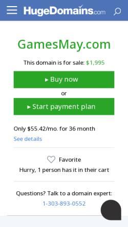 Vorschau der mobilen Webseite www.gamesmay.com, Free Flash Games