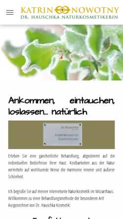 Vorschau der mobilen Webseite www.natuerlich-in-potsdam.de, Katrin Nowotny - Dr. Hauschka Naturkosmetik