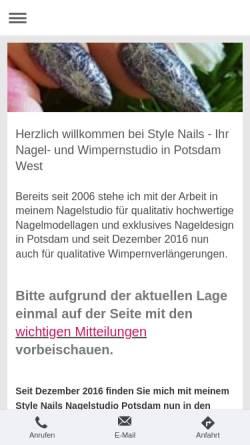 Vorschau der mobilen Webseite www.style-nails.de, Style Nails
