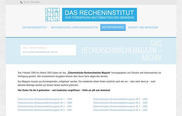 Vorschau von www.recheninstitut.at, Verein für Lern- und Dyskalkulietherapie