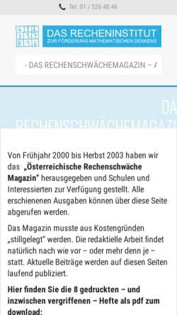 Vorschau der mobilen Webseite www.recheninstitut.at, Verein für Lern- und Dyskalkulietherapie