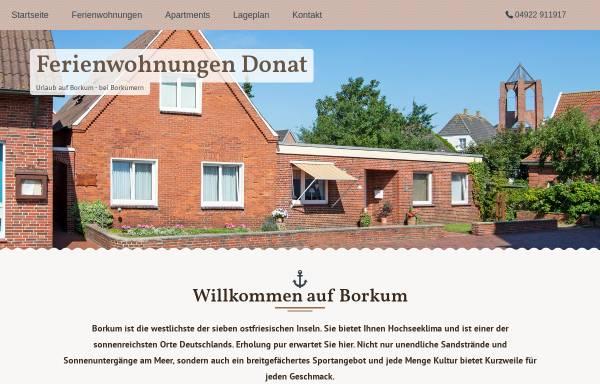 Vorschau von www.donat-borkum.de, Ferienwohnungen Donat