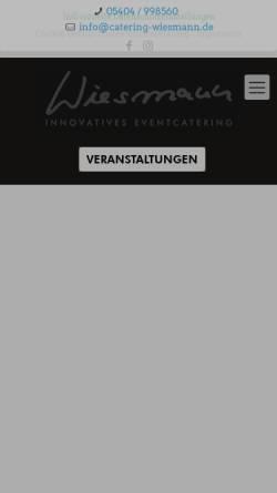Vorschau der mobilen Webseite www.catering-wiesmann.de, Catering Wiesmann GmbH & Co. KG