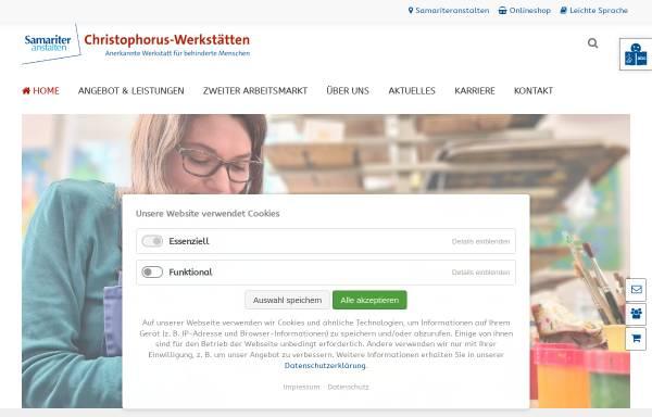 Vorschau von www.christophorus-werkstaetten.de, Christophorus-Werkstätten der Samariteranstalten Fürstenwalde