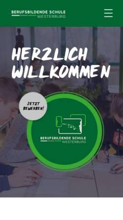 Vorschau der mobilen Webseite www.bbs-westerburg.de, Berufsbildende Schule Westerburg