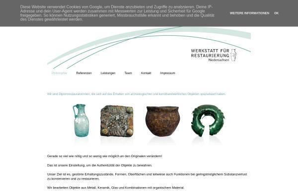 Vorschau von www.restaurierung-niedersachsen.de, Werkstatt für Restaurierung