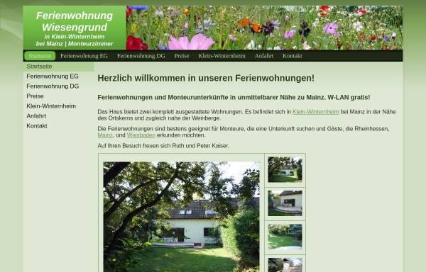 Vorschau von www.ferienwohnung-wiesengrund.eu, Ferienwohnung Wiesengrund